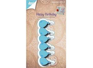 Joy!Crafts und JM Creation Stanz- und Prägeschablone, Bordüre mit Ballone
