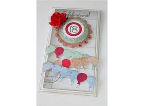 Joy!Crafts und JM Creation Punching and embossing stencil border with balloons