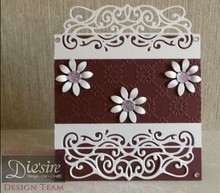 Die'sire NEW: punching and embossing template Diesire: Victoriana