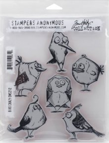 Sizzix Rubber stamp, crazy Birds