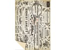 DESIGNER BLÖCKE  / DESIGNER PAPER Karton Vintage Labels