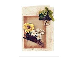 Embellishments / Verzierungen Die cut sheets Garden sepia