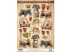 Embellishments / Verzierungen Die cut ark carts, brønde, trillebøre
