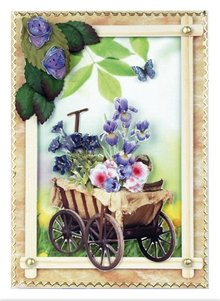 Embellishments / Verzierungen Die cut sheets carts, wells, wheelbarrows