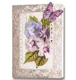 Embellishments / Verzierungen Stanzbogen, 2er Set Blumen Gestaltungen, lila
