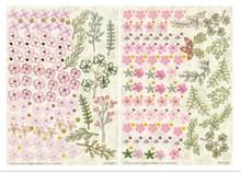 Embellishments / Verzierungen Die fogli singoli, set di 2 composizioni floreali, rosa