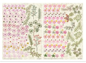 Embellishments / Verzierungen Die cut sheet, set of 2 flower arrangements, pink