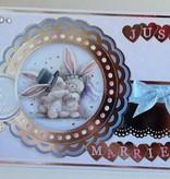 Crafter's Companion A6 Unmounted Gummi Stempel Set, Hochzeitstag