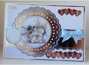 Crafter's Companion A6 gomma Unmounted francobolli set, matrimonio