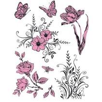 Gjennomsiktige stempler Tema: Blomster