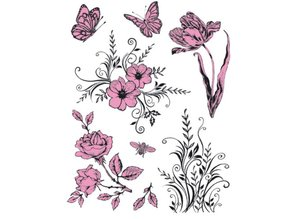 Viva Dekor und My paperworld Transparent stamps Theme: Flowers