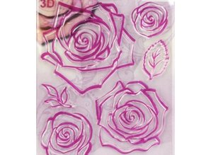 Viva Dekor und My paperworld Transparent stamps, roses 3D