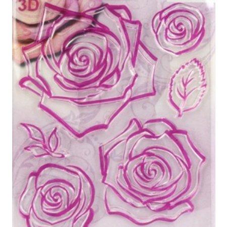 Viva Dekor und My paperworld Transparent Stempel, 3D Rosen