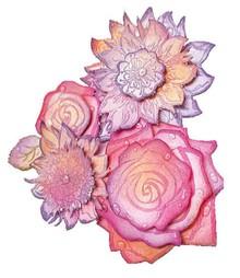 Viva Dekor und My paperworld I timbri trasparenti, rose 3D