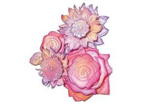 Viva Dekor und My paperworld Gennemsigtige frimærker, roser 3D
