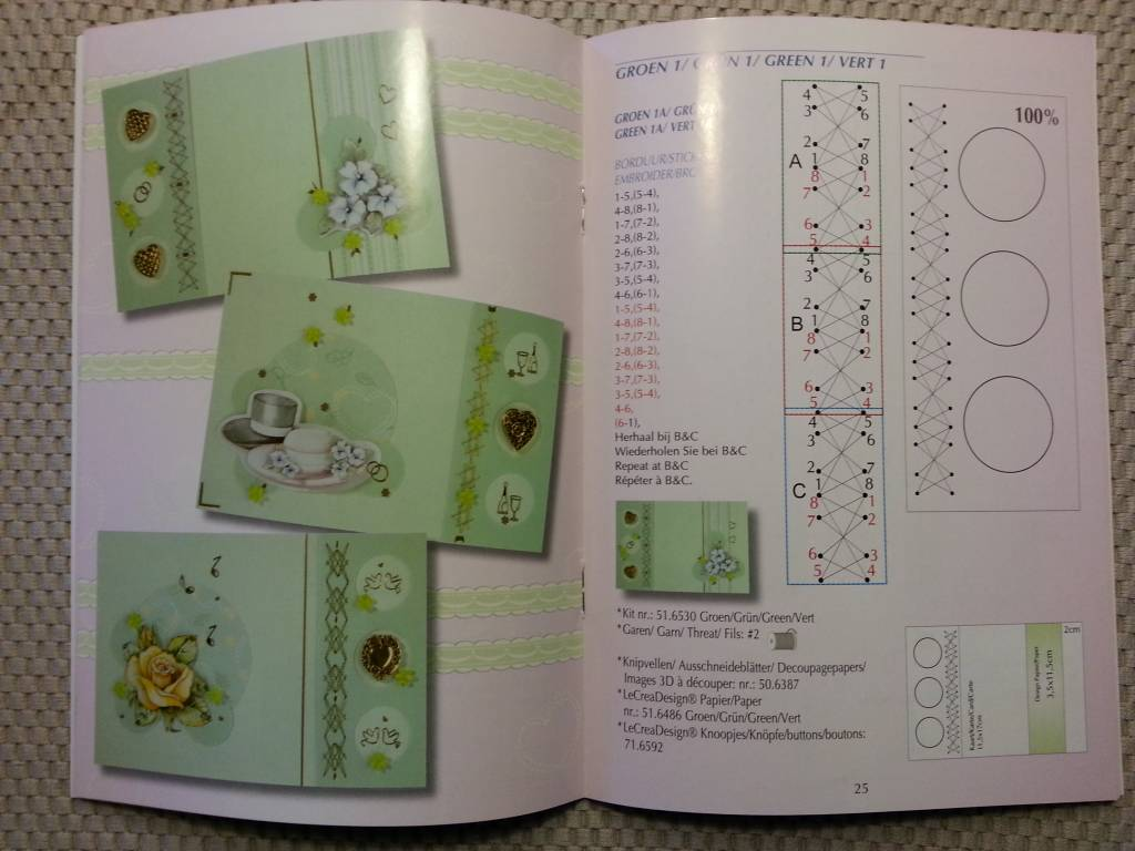 Bücher und CD / Magazines Buch mit viele Vorlagen: Sticken auf ...