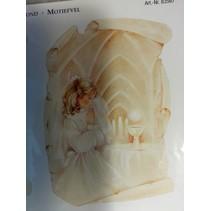 Baggrund sløjfe + afskårne ark, tema: Communion / bekræftelse