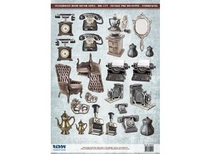 Embellishments / Verzierungen Die cut ark ure sepia, 23 dele