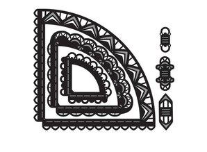 Marianne Design Stanz- und Prägeschablone: Craftables Caroussel