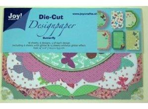 Joy!Crafts und JM Creation Designblock, Designpapier Die Cut, Butterfly