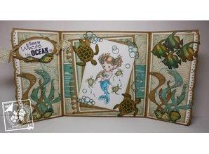 Joy!Crafts und JM Creation Stamping and embossing stencil, Squid, Turtle, Shark