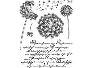 Viva Dekor und My paperworld Transparent stamps, Lowenzahn
