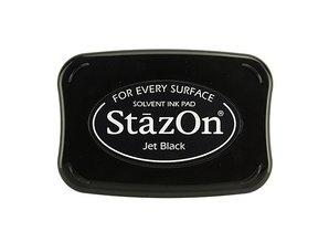 FARBE / INK / CHALKS ... tinta de la estampilla StazOn, negro