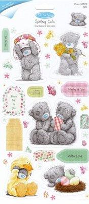 Me to You Spånplade Klistermærker Glitter, sæt med 2, Frühlingsmotive