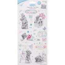 Spånplade Klistermærker Glitter, sæt med 2, Frühlingsmotive