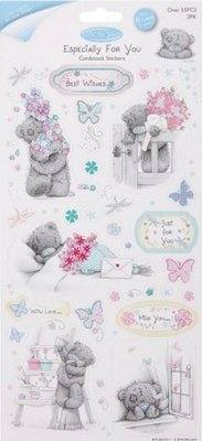 Me to You Chipboard Stickers Glitter, set of 2, Frühlingsmotive
