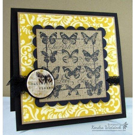 Crafter's Companion A5 sellos de caucho sin montar establecen: pájaros, mariposas, la corona y el carro con el caballo
