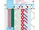 DESIGNER BLÖCKE  / DESIGNER PAPER Bloque diseñador, 20,3 x 20,3 cm con puntos y rayas