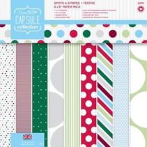 Designer Block, 20,3 x 20,3 cm med prikker og striber