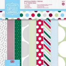 DESIGNER BLÖCKE  / DESIGNER PAPER Designer Block, 20,3 x 20,3 cm con puntini e strisce