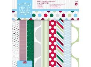 DESIGNER BLÖCKE  / DESIGNER PAPER Designer Block, 20,3 x 20,3 cm med prikker og striber