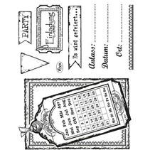 Transparent stamp set: Invitation