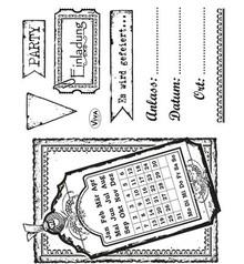 Viva Dekor und My paperworld Transparent stempel sæt: Invitation