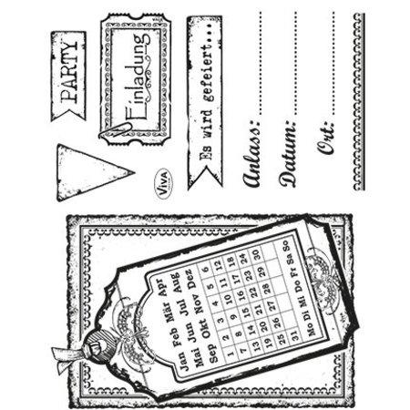 Viva Dekor und My paperworld Conjunto de sello transparente: Invitación