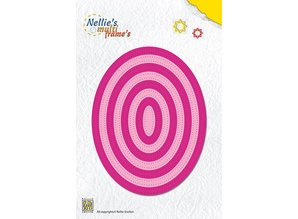 Nellie snellen Punching and embossing template: Multi Frame, Oval