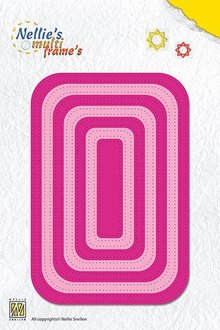 Nellie snellen Punching and embossing template: Multi frame, rectangle