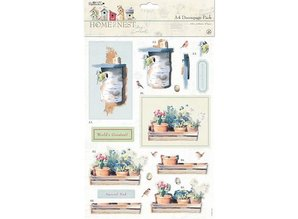Docrafts / Papermania / Urban A4 decoupage set Frühlingsmotive