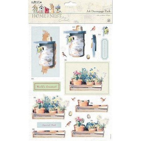 Docrafts / Papermania / Urban A4 Decoupage Set, Frühlingsmotive