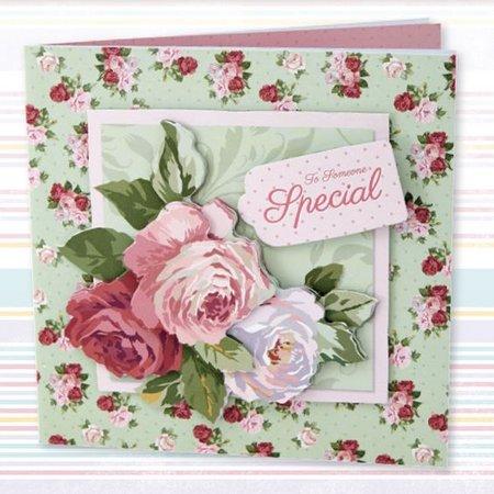 Docrafts / Papermania / Urban Decoupage Card Set, Simply Blomster, Særlige lejligheder
