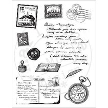 Transparent stamp: Travel