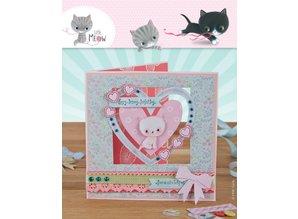Docrafts / Papermania / Urban Card Set 12 Designer kort og kuverter, Little Meow