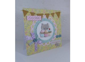 Docrafts / Papermania / Urban Card Set 12 Designer Cards & Envelopes, Little Meow
