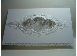 Marianne Design Troquelado y estampado en relieve plantilla: Vintage marco decorativo de Anja