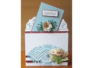 Marianne Design Punching and embossing template: Anja's vintage decorative frame