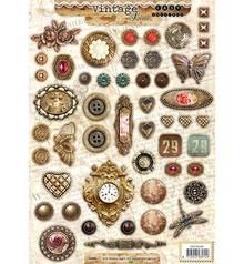 Embellishments / Verzierungen A4 Gestantzte 3D Bogen