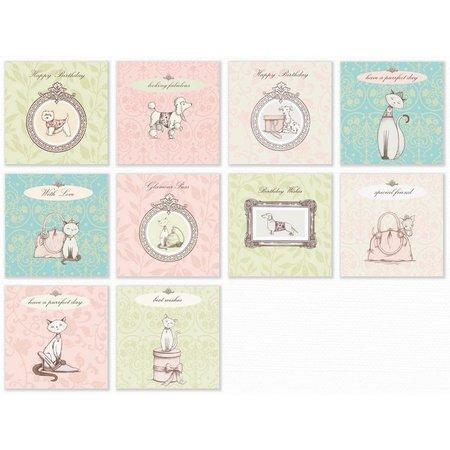 "DESIGNER BLÖCKE  / DESIGNER PAPER bloc de papel de ""Animales mimados"""